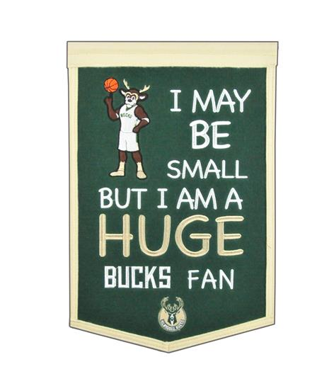 Milwaukee Bucks Lil Fan Traditions Banner - Dynasty Sports & Framing