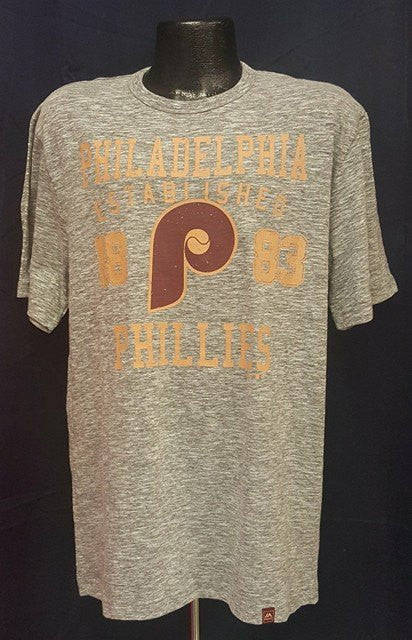 Philadelphia Phillies Cooperstown Collection Grey Throwback T-Shirt - Dynasty Sports & Framing