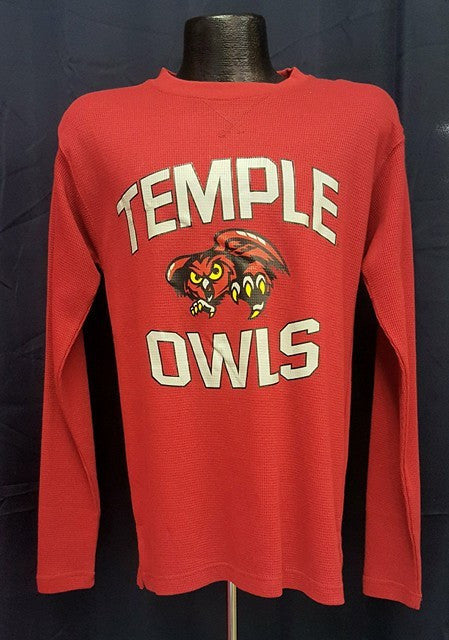 Temple University Owls NCAA College Waffle Long-Sleeve Shirt - Dynasty Sports & Framing