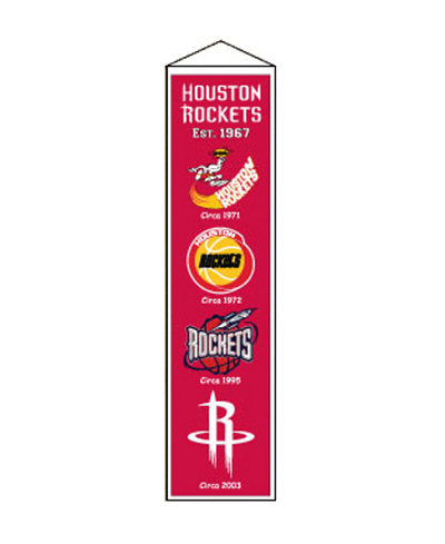 Houston Rockets NBA Logo Heritage Banner