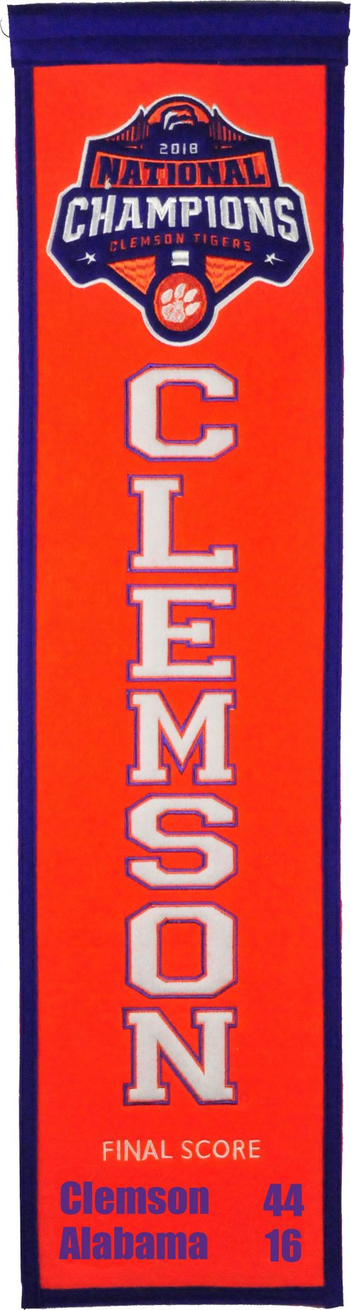 Clemson Tigers 2018 Championship NCAA Heritage Banner