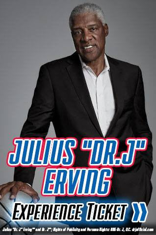 Julius Erving Philadelphia 76'ers Experience Tickets