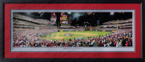 Philadelphia Phillies Citizen's Bank Park 2008 World Series Championship Celebration MLB Baseball Rob Arra Framed and Matted Stadium Panorama