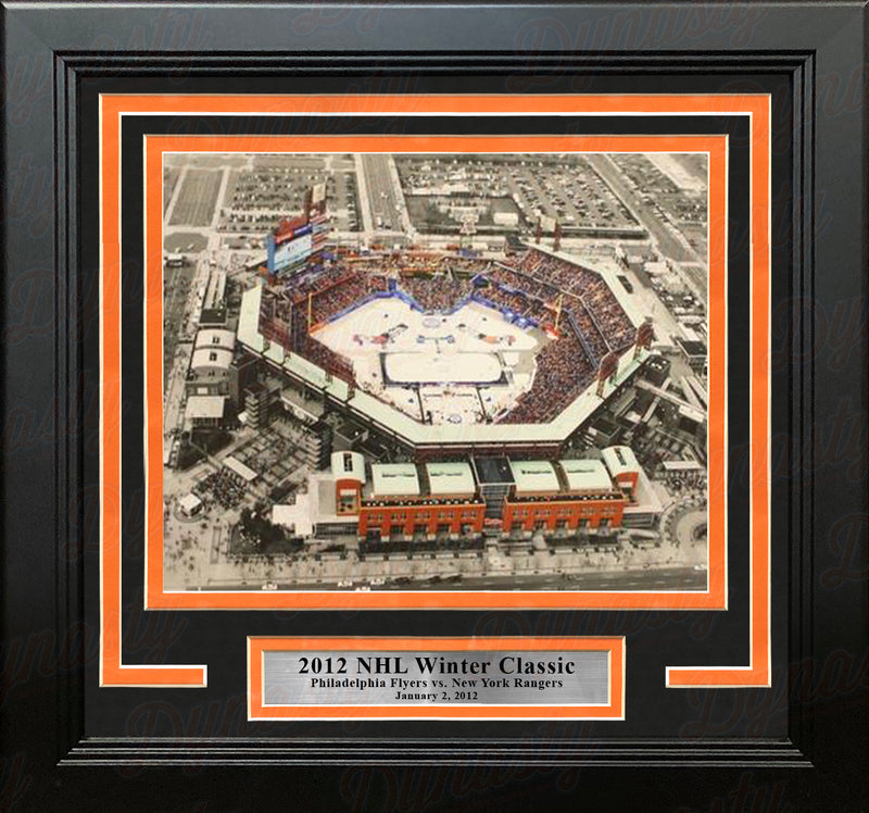Philadelphia Flyers 2012 Winter Classic at Citizen's Bank Park Framed Hockey Photo - Dynasty Sports & Framing