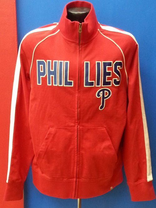 Philadelphia Phillies MLB Baseball '47 Brand Red Full Zip Track Jacket - Dynasty Sports & Framing