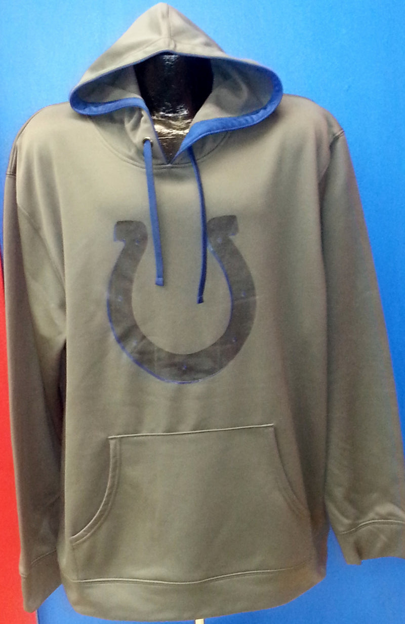 Indianapolis Colts Full Performance Dri-Fit Hooded Pullover Sweatshirt-Charcoal - Dynasty Sports & Framing