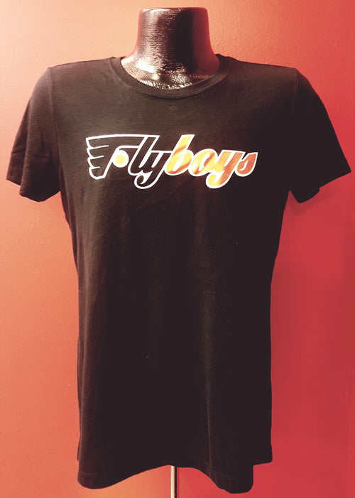 "Philadelphia Flyers NHL Hockey Women's ""Fly Boys"" V-Neck Heathered T-Shirt (Dynasty Sports Exclusive) - Dynasty Sports & Framing"