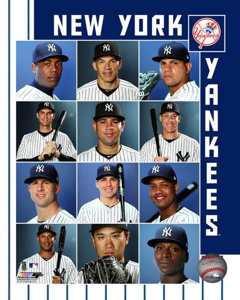 "2017 New York Yankees Collage MLB Baseball 8"" x 10"" Photo - Dynasty Sports & Framing"