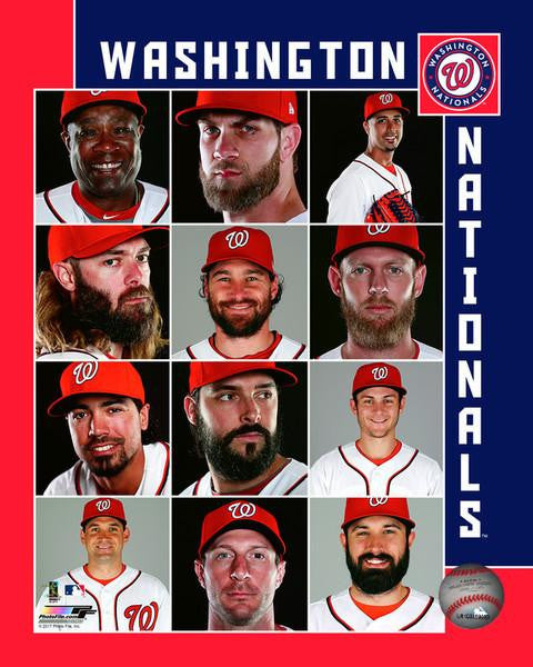 "2017 Washington Nationals Collage MLB Baseball 8"" x 10"" Photo - Dynasty Sports & Framing"