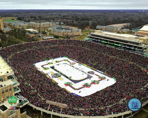 "2019 Winter Classic Notre Dame Stadium NHL Hockey 8"" x 10"" Photo"