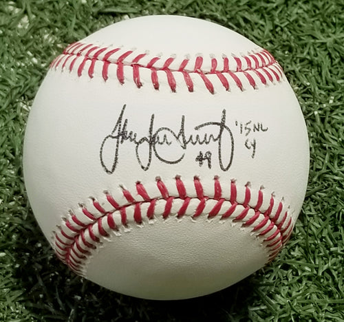 Jake Arrieta Autographed Philadelphia Phillies Major League Baseball with Cy Young Inscription - Dynasty Sports & Framing
