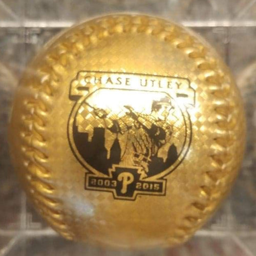 Chase Utley Retirement Night Gold Baseball