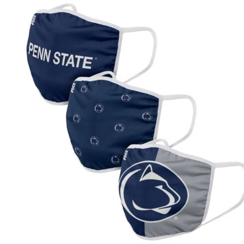 Penn State Nittany Lions 3-Pack Printed Face Mask Covers - Dynasty Sports & Framing