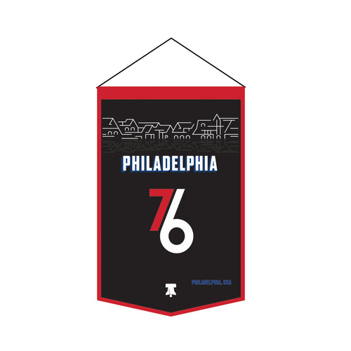 Philadelphia 76ers 20/21 City Edition Banner (Boat House Row) - Dynasty Sports & Framing