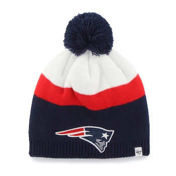 New England Patriots NFL Football Breakaway On-Field Pom Winter Hat - Dynasty Sports & Framing