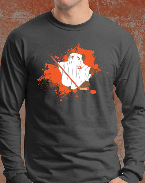 "Philadelphia Flyers Shayne Gostisbehere ""Ghost Bear"" Adult Long Sleeve Shirt (Dynasty Sports Exclusive)"