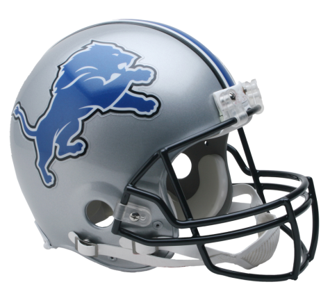Detroit Lions Authentic NFL Full-Size Helmet - Dynasty Sports & Framing