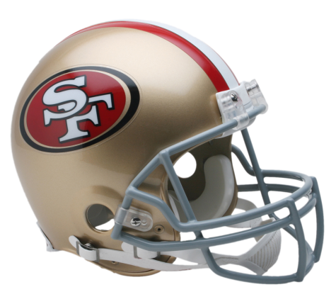 San Francisco 49ers Authentic NFL Full-Size Helmet - Dynasty Sports & Framing