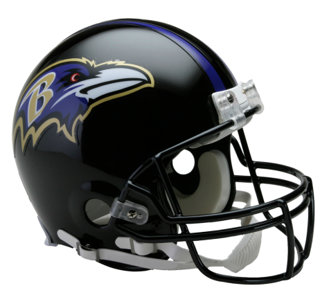 Baltimore Ravens Authentic NFL Full-Size Helmet - Dynasty Sports & Framing