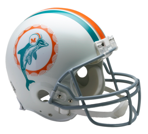 Miami Dolphins Authentic NFL Full-Size Helmet - Dynasty Sports & Framing