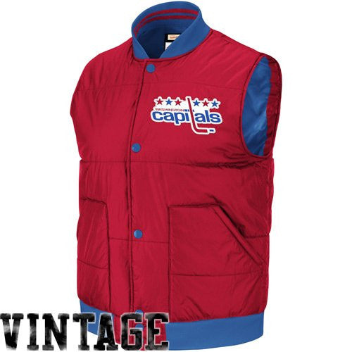 Washington Capitals Mitchell & Ness Free Agent Vest - Dynasty Sports & Framing