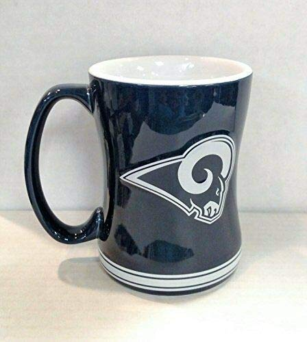 Los Angeles Rams NFL Football Logo Relief 14 oz. Mug - Dynasty Sports & Framing