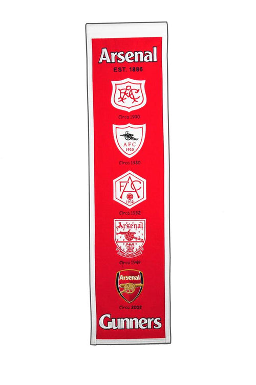 Arsenal F.C. Premier League Soccer Heritage Banner - Dynasty Sports & Framing