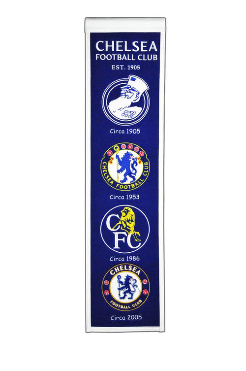 Chelsea F.C. Premier League Soccer Heritage Banner - Dynasty Sports & Framing