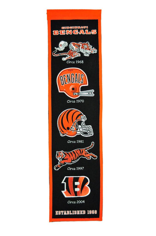 Cincinnati Bengals NFL Football Heritage Banner - Dynasty Sports & Framing
