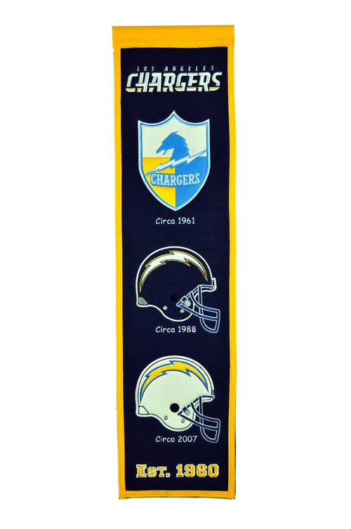 Los Angeles Chargers NFL Football Heritage Banner - Dynasty Sports & Framing