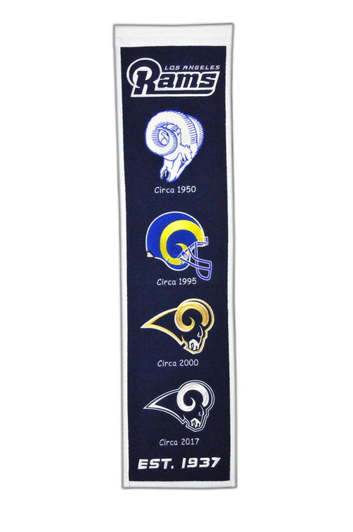 Los Angeles Rams NFL Football Heritage Banner - Dynasty Sports & Framing
