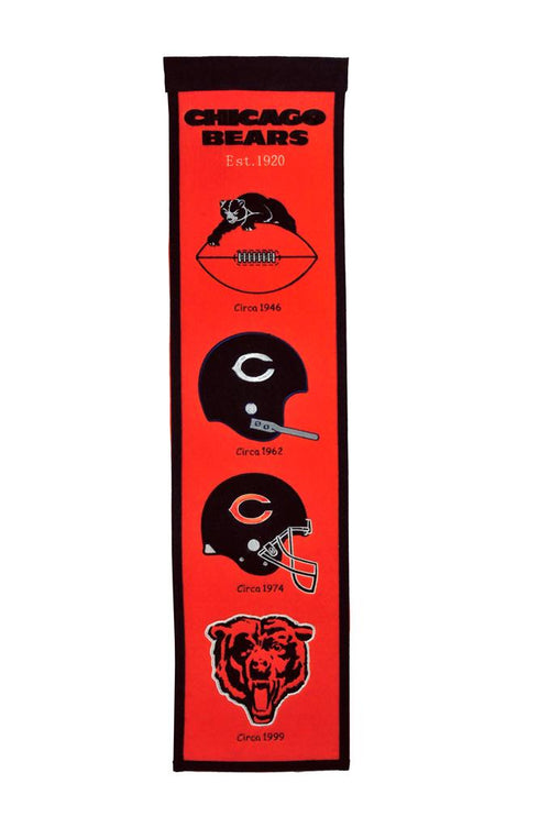 Chicago Bears Alternate NFL Football Heritage Banner - Dynasty Sports & Framing