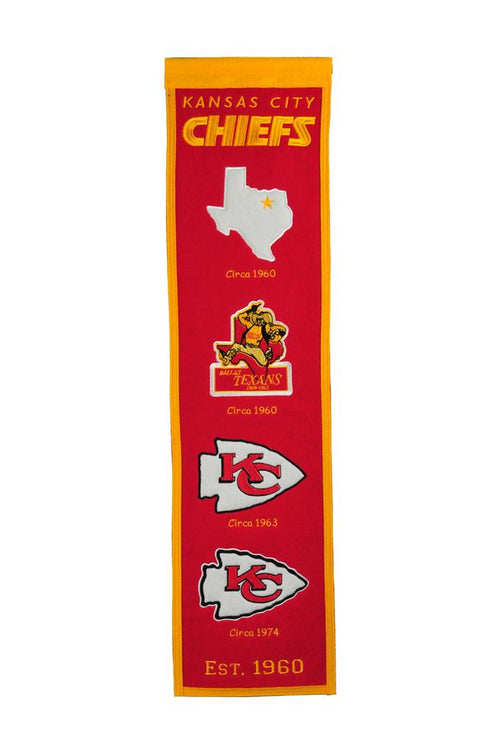 Kansas City Chiefs Alternate NFL Football Heritage Banner - Dynasty Sports & Framing