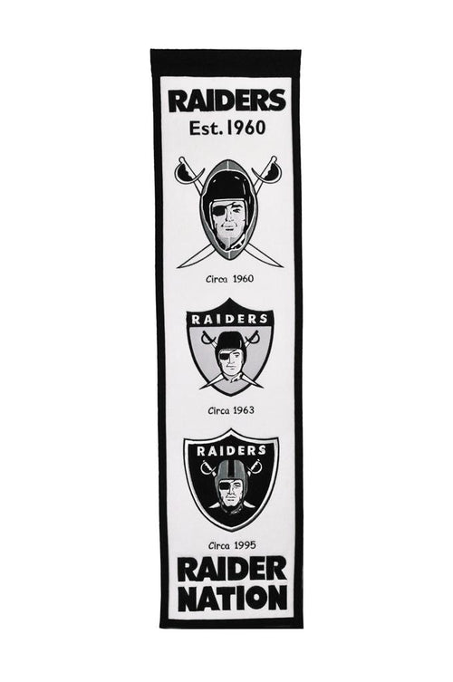 Oakland Raiders NFL Football Heritage Banner - Dynasty Sports & Framing