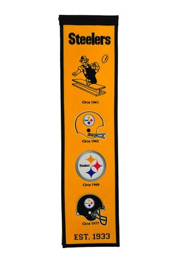 Pittsburgh Steelers Fan Favorite Heritage Banner - Dynasty Sports & Framing