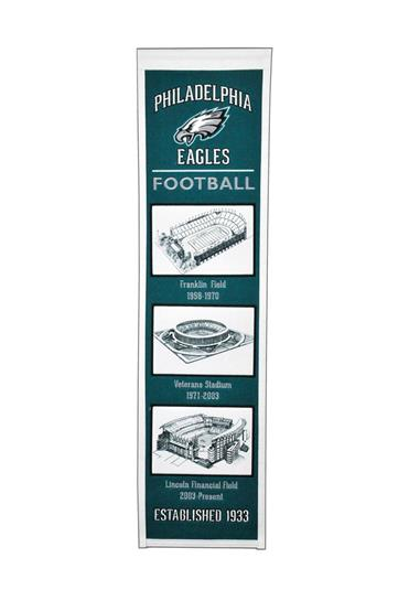 Philadelphia Eagles NFL Stadium Evolution Heritage Banner