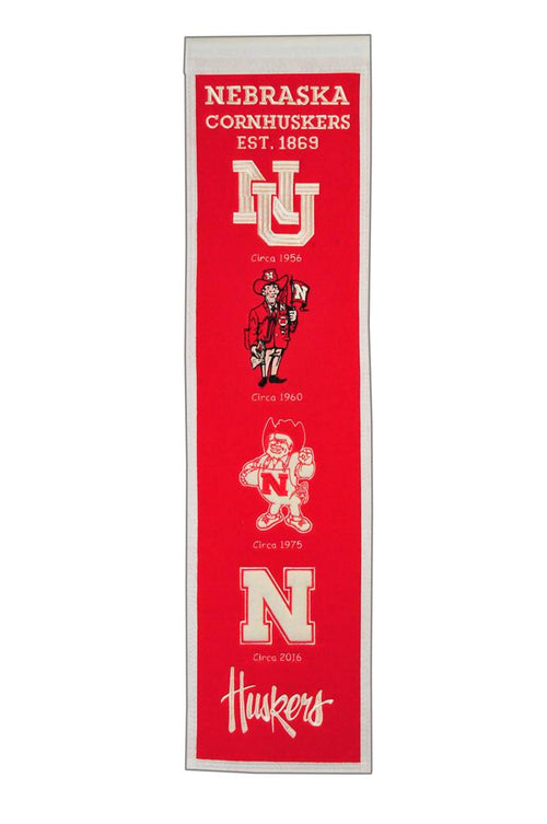 Nebraska Cornhuskers NCAA Heritage Banner - Dynasty Sports & Framing