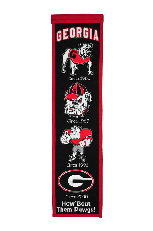 Georgia Bulldogs NCAA Heritage Banner - Dynasty Sports & Framing