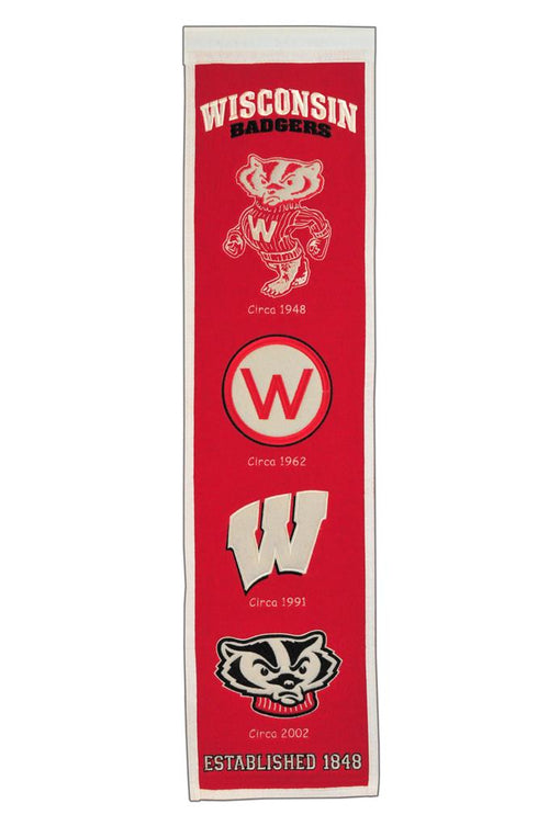 Wisconsin Badgers NCAA Heritage Banner - Dynasty Sports & Framing