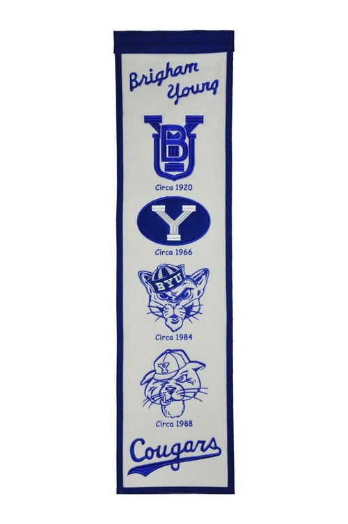 Brigham Young Cougars NCAA Heritage Banner
