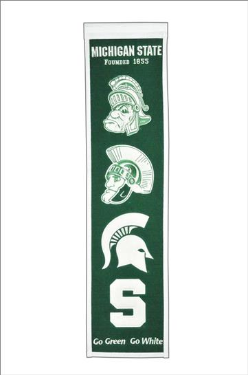 Michigan State Spartans NCAA Logo Heritage Banner