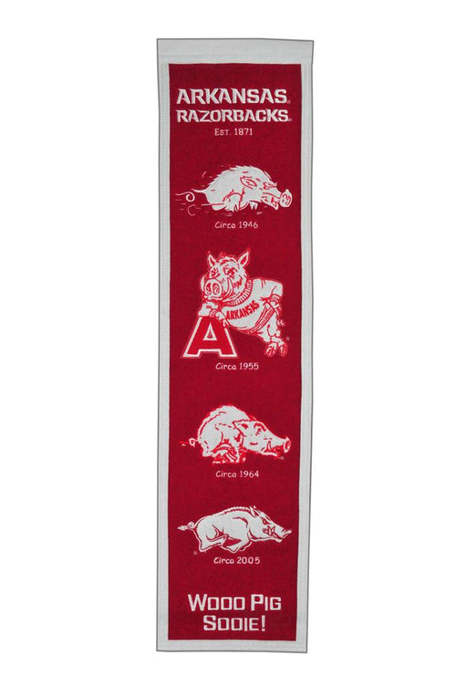 Arkansas Razorbacks NCAA Heritage Banner - Dynasty Sports & Framing