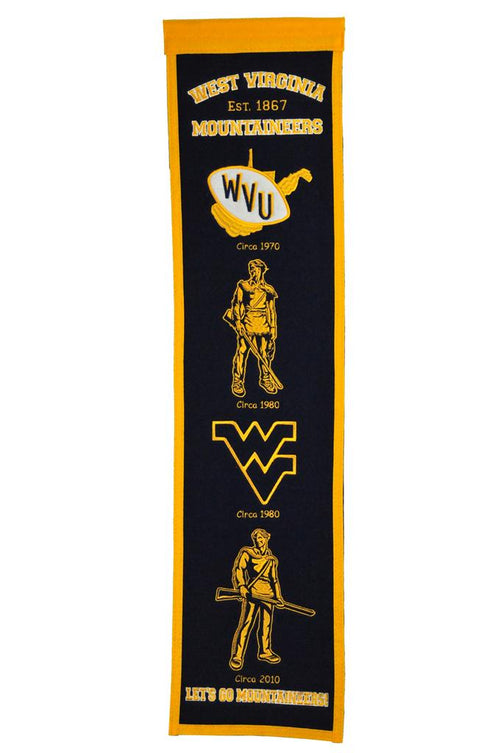 West Virginia Mountaineers NCAA Heritage Banner - Dynasty Sports & Framing