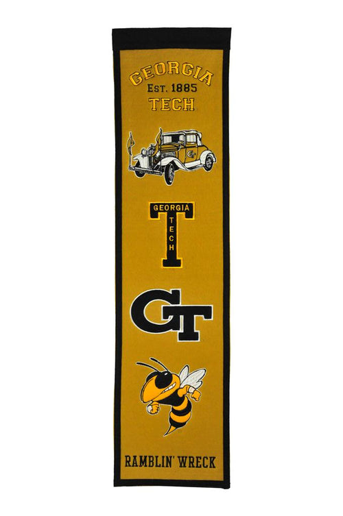 Georgia Tech Yellow Jackets NCAA Heritage Banner - Dynasty Sports & Framing
