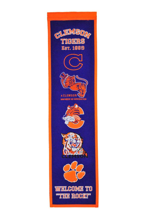 Clemson Tigers NCAA Heritage Banner - Dynasty Sports & Framing