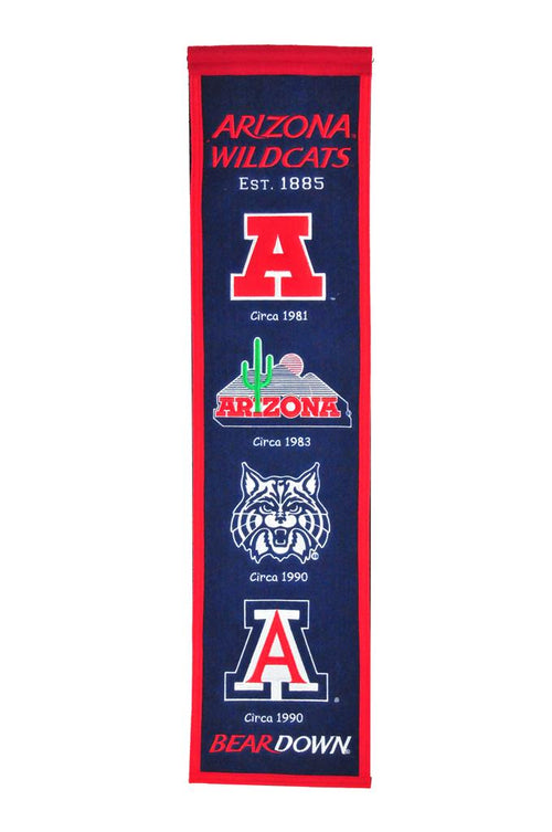 Arizona Wildcats NCAA Heritage Banner - Dynasty Sports & Framing