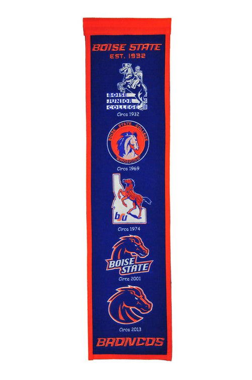Boise State Broncos NCAA Heritage Banner - Dynasty Sports & Framing