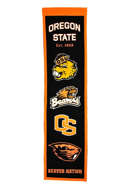 Oregon State Beavers NCAA Heritage Banner - Dynasty Sports & Framing