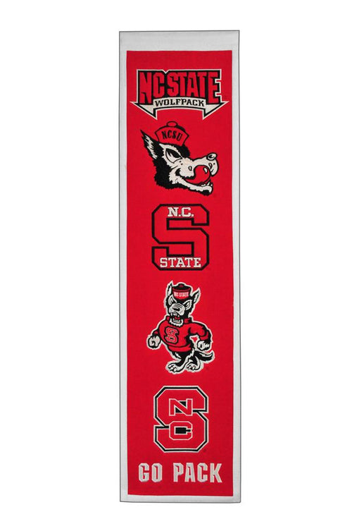 North Carolina State Wolfpack NCAA Heritage Banner