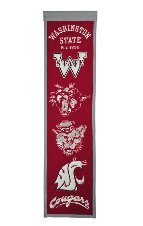 Washington State Cougars NCAA Heritage Banner - Dynasty Sports & Framing